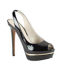 ALDO Black Mesiano Platform Peep Toe Court Shoes