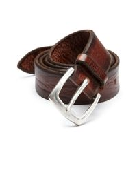 Orciani - Brown Distressed Leather Belt for Men - Lyst