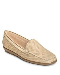 Aerosoles | Metallic Web Browser Mesh Fabric Loafers | Lyst