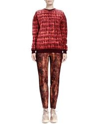 Stella McCartney - Orange Slim Tie-dye Jacquard Pants - Lyst