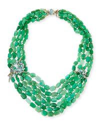 Alexis Bittar Fine - Green Chrysoprase Torsade Beaded Necklace - Lyst
