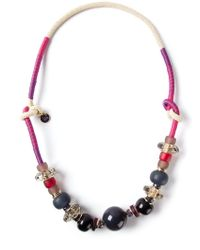 Emporio Armani - Purple Bead Necklace - Lyst