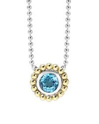 Lagos - Blue Stone Pendant Necklace - Lyst
