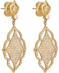 Sara Weinstock - Metallic Diamond & Gold Laura Earrings - Lyst