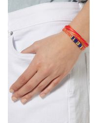 Aurelie Bidermann Orange Takayama Cotton and Golddipped Bracelet