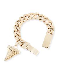 Givenchy | Metallic Textured Shark Tooth Bracelet | Lyst
