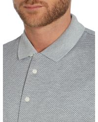 Michael Kors | Gray Regular Fit Patterned Print Polo Shirt for Men | Lyst