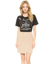 Carven - Embroidered Tshirt Black - Lyst