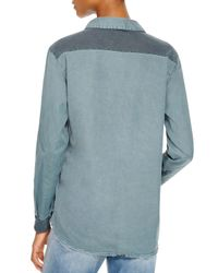 Stateside | Green Contrast Back Oxford Shirt - Bloomingdale's Exclusive | Lyst