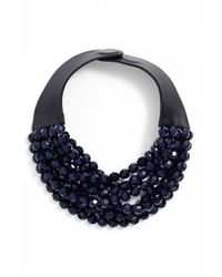 Fairchild Baldwin - Blue Multirow Beaded Collar Necklace - Lyst