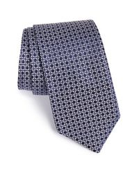 Ted Baker - Blue '60s Squares Ii' Silk Tie for Men - Lyst