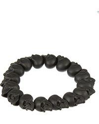Alexander McQueen Black Skull Bead Bracelet - For Men for men