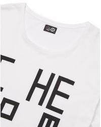 Cheap Monday - White T Shirt With Square Print for Men - Lyst