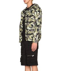Givenchy | Green Pixel Camo Nylon Zip Up With Neoprene Lining | Lyst