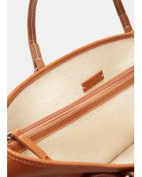 Violeta by Mango Brown Faux-leather Shopper Bag