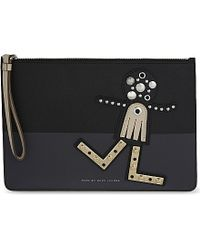 Marc By Marc Jacobs | Screwed Up Faces Gypsy Pouch, Women's, Black Multi | Lyst