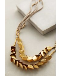 Serefina - Metallic Olea Necklace - Lyst