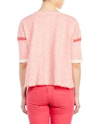 Maje | Pink Clementine Terry Sweatshirt | Lyst