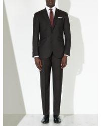 John Lewis Black Super 120s Wool Birdseye Tailored Suit Trousers for men