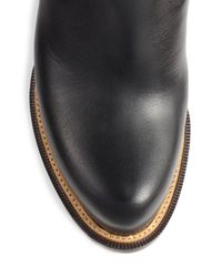 Belstaff - Black Halewood Knee-High Leather Boots - Lyst