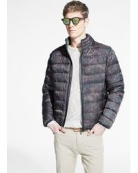 Mango Natural Camo Water-Repellent Quilted Jacket for men