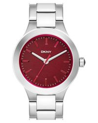 DKNY | Metallic 'chambers' Bracelet Watch | Lyst