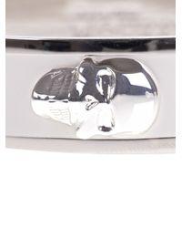Alexander McQueen - White Brass Skull Bracelet - Lyst