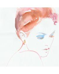 Lulu Frost - Metallic Code Number 14kt #9 Earring - Lyst
