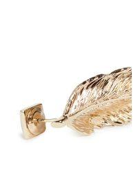 Valentino | Metallic 'rockstud' Feather Earrings | Lyst