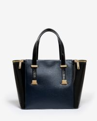 Ted Baker | Blue Large Zip Detail Tote Bag | Lyst