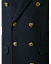 Saint Laurent Blue Double Breasted Coat for men