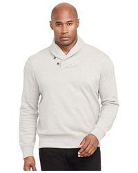 Polo Ralph Lauren | Gray Big And Tall Fleece Shawl Cardigan Sweater for Men | Lyst