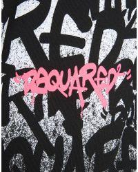 DSquared² - Black Graffiti Logo Sweater for Men - Lyst