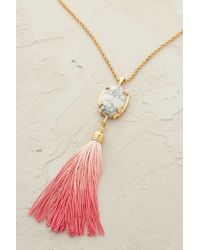 Cabinet - Pink Blushed Rose Tassel Necklace - Lyst