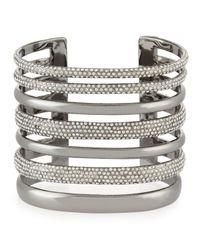 St. John - Metallic Open Crystal Cuff Bracelet - Lyst