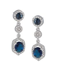 Carolee Blue Simply Triple Drop Pierced Earrings
