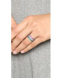 Noir Jewelry | Gray Dover Stackable Rings | Lyst