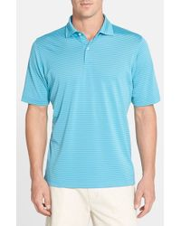Fairway & Greene | Blue 'wellington Stripe' Stretch Pique Golf Polo for Men | Lyst