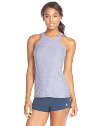 Oiselle | Blue 'osnap' High Neck Tank | Lyst
