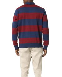 Obey Blue Edinburgh Rugby Fleece Shirt for men