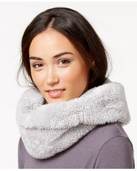 Calvin Klein Gray Performance Faux Sherpa Fleece Neckwarmer