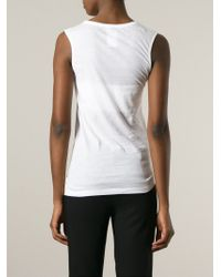 Ann Demeulemeester Blanche | White Corps Humain Print Top | Lyst
