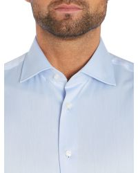 Tommy Hilfiger | Blue Jake Slim Fit Plain Shirt for Men | Lyst