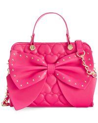 Betsey Johnson | Pink Be Mine Satchel | Lyst