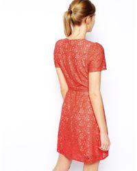Oasis - Pink A Line Skater Dress - Lyst