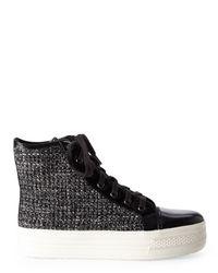 J/Slides | Black J/Slides Jackson Tweed High-Top Sneakers | Lyst