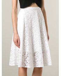 MSGM | White Lace Skirt | Lyst