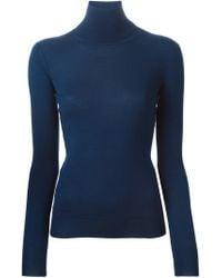 Ermanno Scervino - Blue Turtle Neck Sweater - Lyst