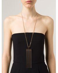 Chloé   Metallic Rigid Pendant Necklace   Lyst