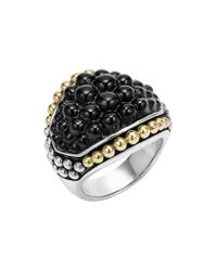 Lagos | Metallic 'black Caviar' Dome Ring | Lyst